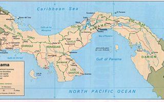 panama map